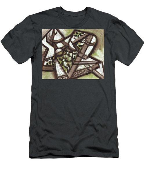 Tommervik Cubist Hawaiian Woman Art Print Men's T-Shirt (Athletic Fit)