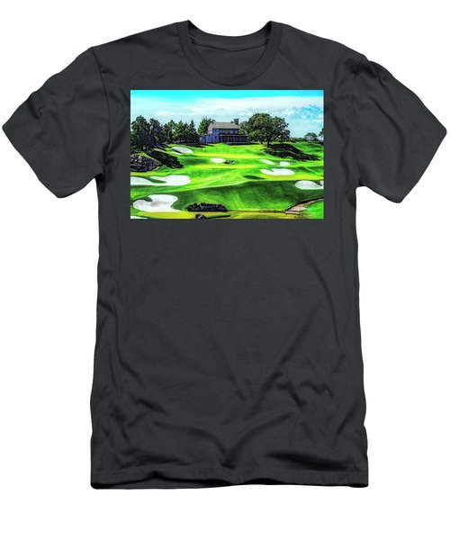 Men's T-Shirt (Athletic Fit) featuring the photograph Top Of The Rock Golf Course - Branson Missouri by Mike Braun