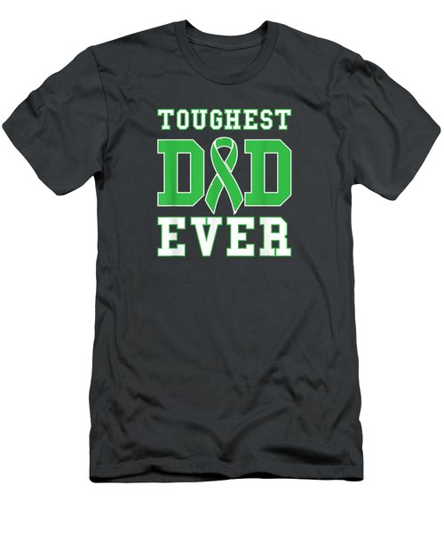 Toughest Dad Ever - Bile Duct Gallbladder Cancer Fathers Day T-shirt Men's T-Shirt (Athletic Fit)