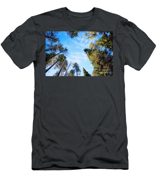 Men's T-Shirt (Athletic Fit) featuring the photograph Towering Pines by Scott Kemper