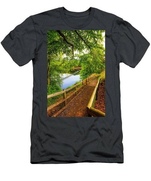 Trail To The Dam Men's T-Shirt (Athletic Fit)