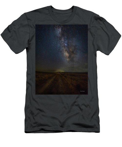 Men's T-Shirt (Athletic Fit) featuring the photograph Trails End by Tim Bryan