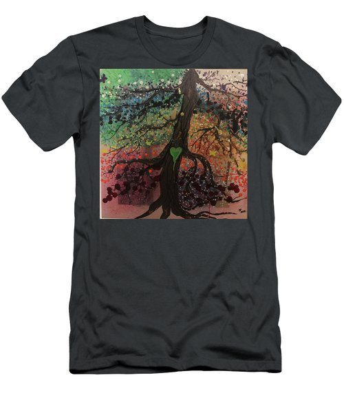 Tree Of Life Chakra Tree Men's T-Shirt (Athletic Fit)