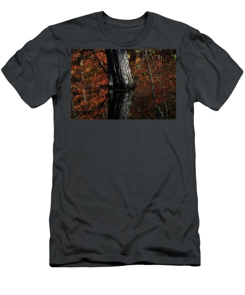 Tree Reflects In The Pond Men's T-Shirt (Athletic Fit)