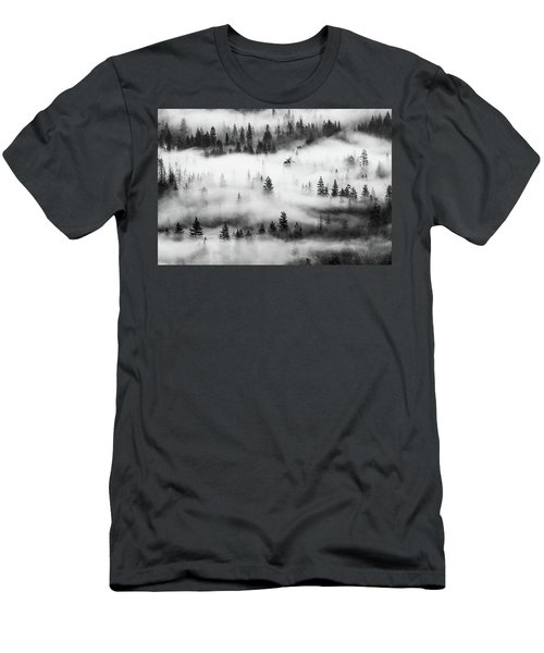 Men's T-Shirt (Athletic Fit) featuring the photograph Trees In The Mist 3 by Stephen Holst
