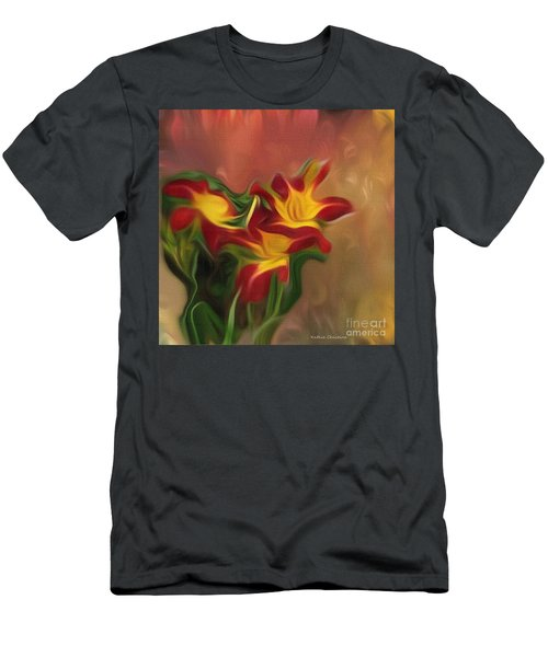 Trio Of Day Lilies Men's T-Shirt (Athletic Fit)