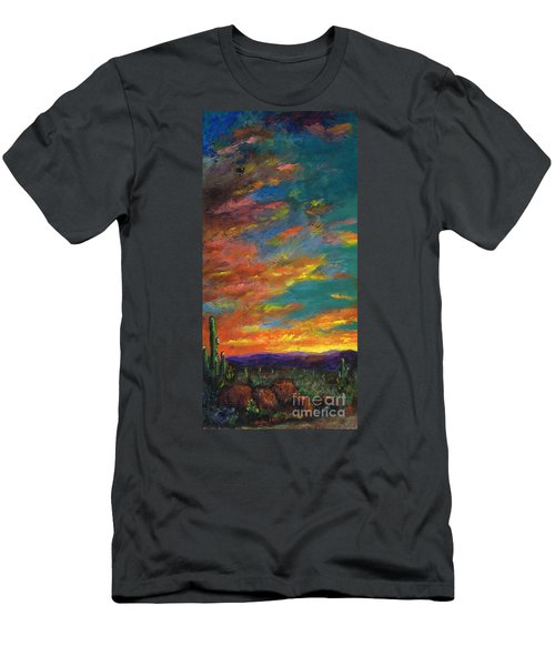 Triptych 1 Desert Sunset Men's T-Shirt (Athletic Fit)