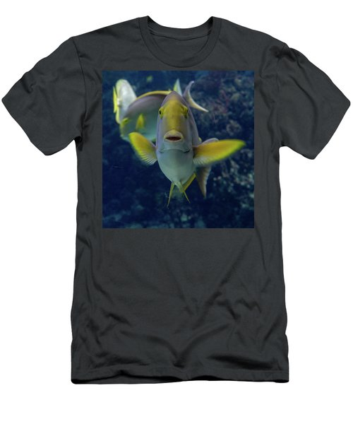 Men's T-Shirt (Athletic Fit) featuring the photograph Tropical Fish Poses. by Anjo Ten Kate