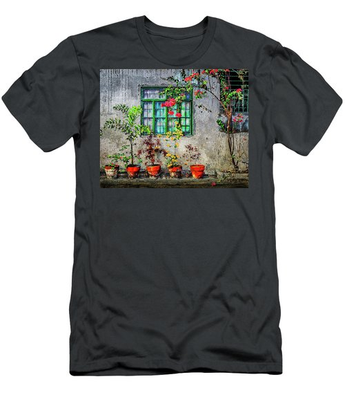 Men's T-Shirt (Athletic Fit) featuring the photograph Tropical Wall by Michael Arend