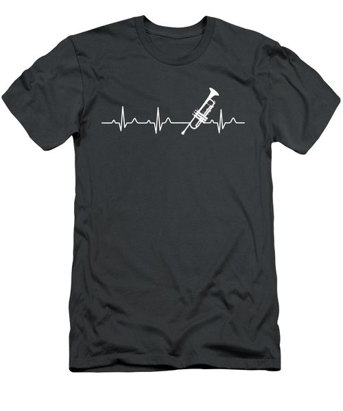 Trumpet Heartbeat For Your Hobbie Tees Men's T-Shirt (Athletic Fit)