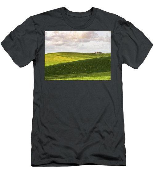 Tuscan Landscapes. Hills In The Spring Men's T-Shirt (Athletic Fit)