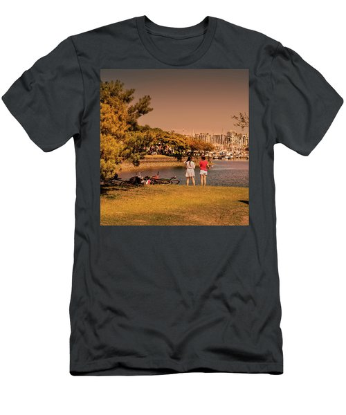 Men's T-Shirt (Athletic Fit) featuring the photograph Two Girls by Juan Contreras