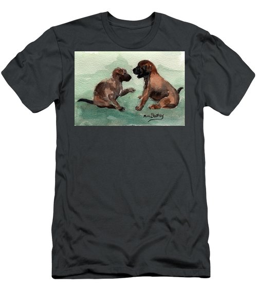Two Malinois Puppies Men's T-Shirt (Athletic Fit)