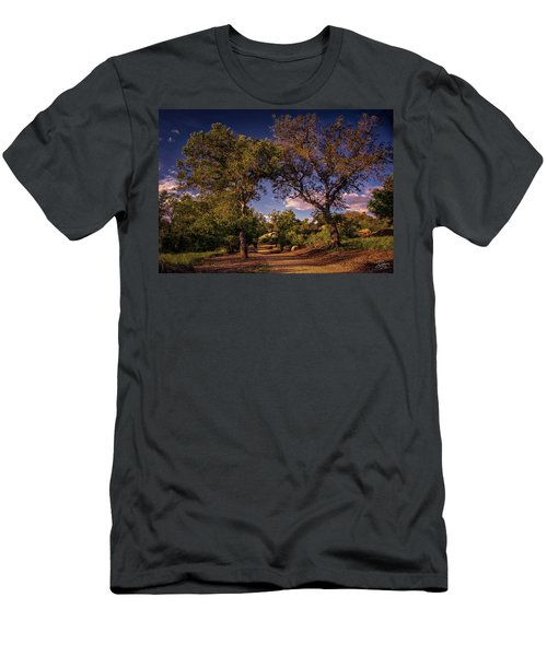 Two Old Oak Trees At Sunset Men's T-Shirt (Athletic Fit)