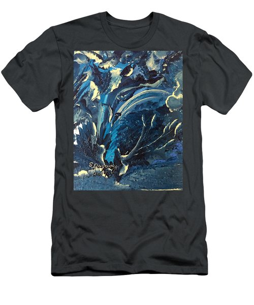 Under Water Swirls  Men's T-Shirt (Athletic Fit)