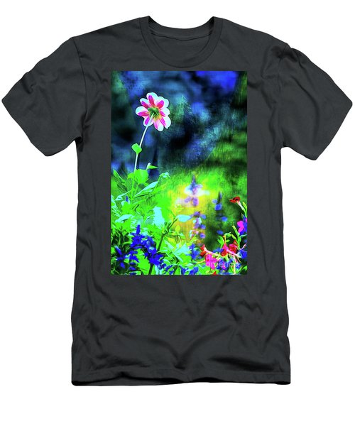 Underwater Garden Abstract Men's T-Shirt (Athletic Fit)