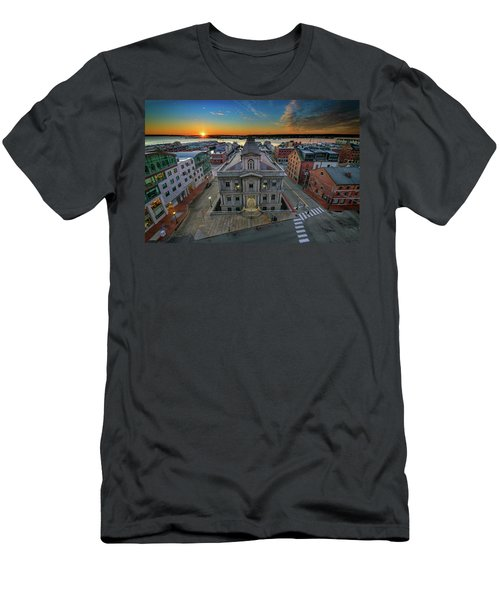 Men's T-Shirt (Athletic Fit) featuring the photograph United States Custom House by Rick Berk