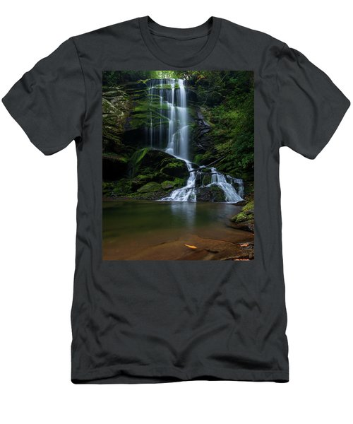 Upper Catawba Falls, North Carolina Men's T-Shirt (Athletic Fit)