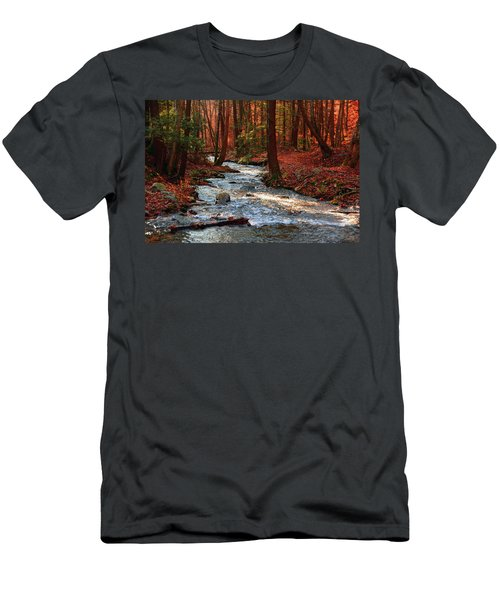 Men's T-Shirt (Athletic Fit) featuring the photograph Upper Dunnfield Creek by Raymond Salani III
