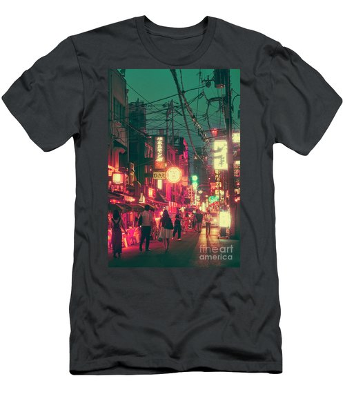Ura Namba Street Nightlife Osaka Japan Men's T-Shirt (Athletic Fit)