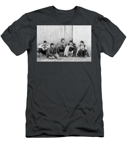 Men's T-Shirt (Athletic Fit) featuring the photograph Uzbek Day Laborers by SR Green
