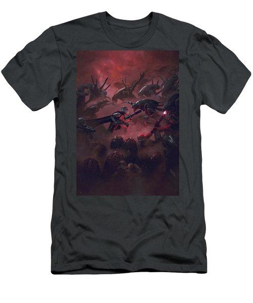 Vader Vs Aliens 5 Men's T-Shirt (Athletic Fit)