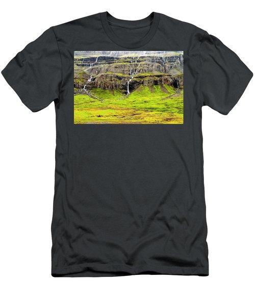 Men's T-Shirt (Athletic Fit) featuring the photograph Valley Cascades - Iceland by Marla Craven
