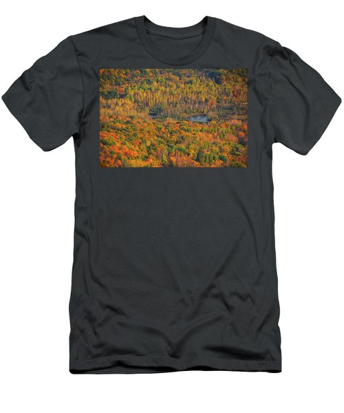 Men's T-Shirt (Athletic Fit) featuring the photograph Valley From The Summit Of Mount Greylock by Raymond Salani III