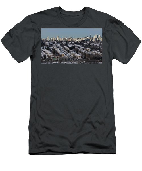 Men's T-Shirt (Athletic Fit) featuring the photograph Vancouver In Winter No. 1 by Juan Contreras