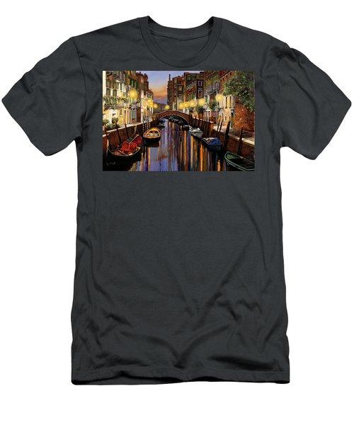 Venice At Dusk Men's T-Shirt (Athletic Fit)