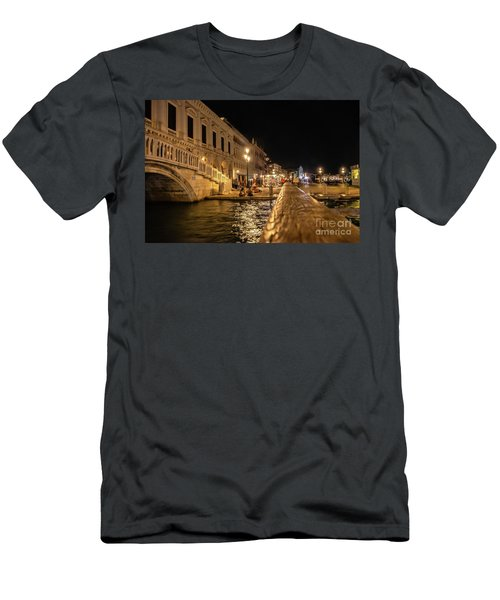 Venice At Night. San Marco Men's T-Shirt (Athletic Fit)