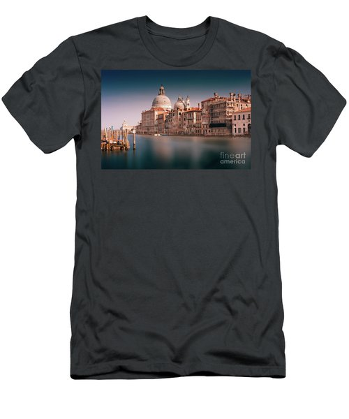 Men's T-Shirt (Athletic Fit) featuring the photograph Venice Grand Canal by Miles Whittingham