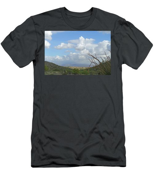 Men's T-Shirt (Athletic Fit) featuring the photograph Verdant Valley 3 by Lynda Lehmann