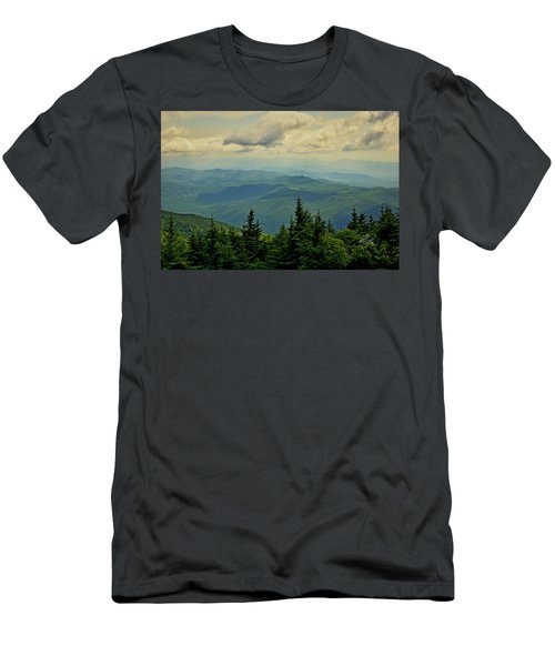 Men's T-Shirt (Athletic Fit) featuring the photograph View From Mount Mitchell by Meta Gatschenberger