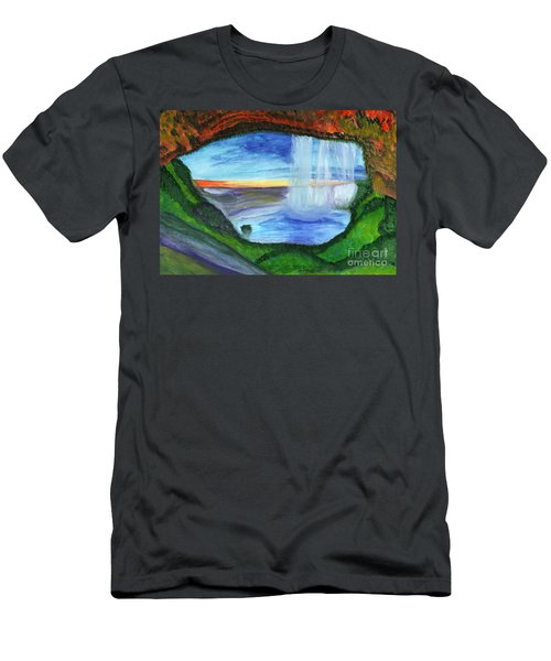 View From The Cave To The Waterfall Men's T-Shirt (Athletic Fit)