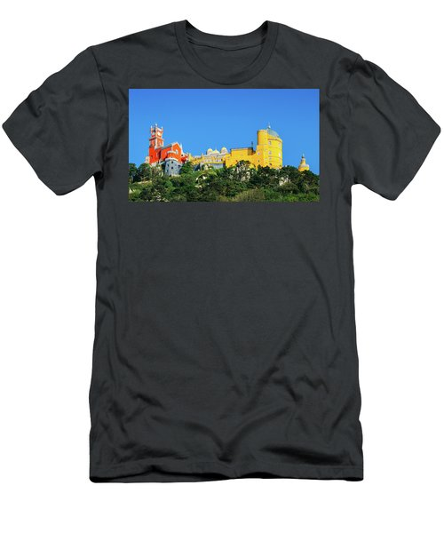 View Of Pena National Palace, Sintra, Portugal, Europe Men's T-Shirt (Athletic Fit)