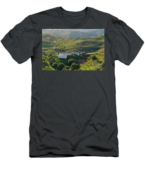 Village Hidden In The Mountains Men's T-Shirt (Athletic Fit)
