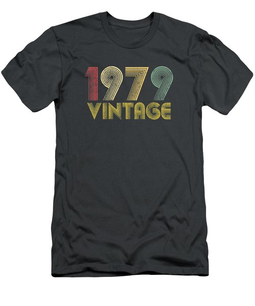 Vintage 1979 40th Birthday Gift 40 Years Old Funny T-shirt Men's T-Shirt (Athletic Fit)