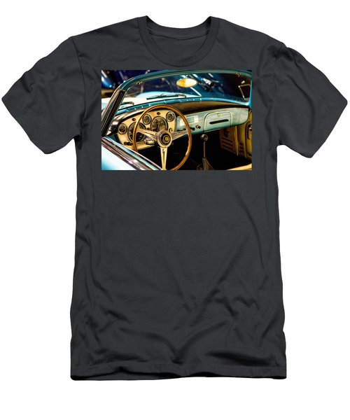 Vintage Blue Car Men's T-Shirt (Athletic Fit)