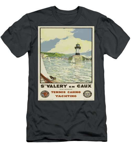 Vintage Poster - St. Valery En Caux, France Men's T-Shirt (Athletic Fit)