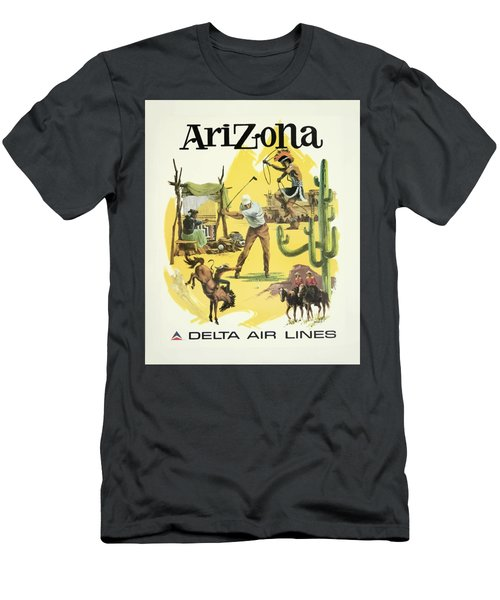 Vintage Travel Poster - Arizona Men's T-Shirt (Athletic Fit)