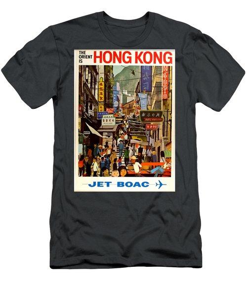 Vintage Travel Poster - Hong Kong Men's T-Shirt (Athletic Fit)