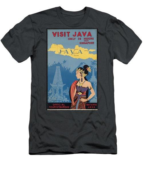 Vintage Travel Poster - Java Men's T-Shirt (Athletic Fit)