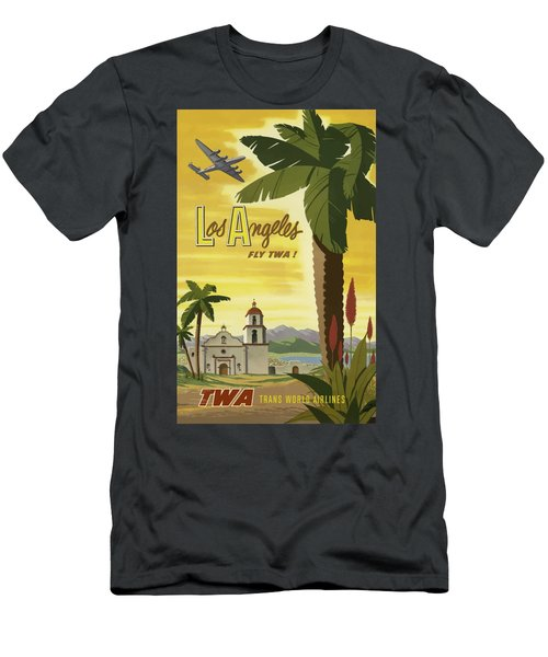 Vintage Travel Poster - Los Angeles Men's T-Shirt (Athletic Fit)