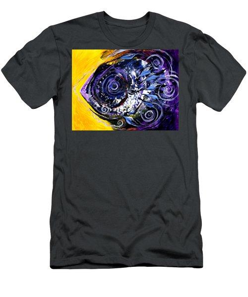 Violet Tri Fish Men's T-Shirt (Athletic Fit)