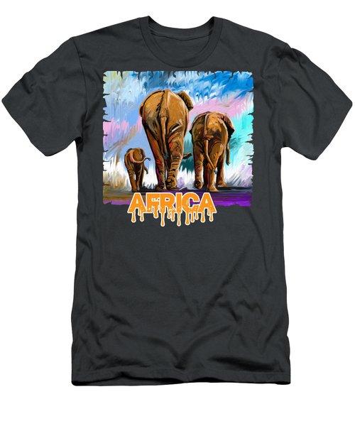 Walking Away Men's T-Shirt (Athletic Fit)