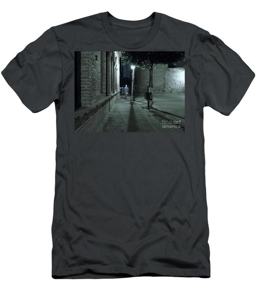 Men's T-Shirt (Athletic Fit) featuring the photograph Walking Away by Rosanne Licciardi