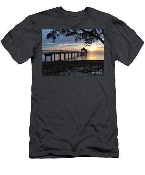 Walking Bridge To The Gazebo Men's T-Shirt (Athletic Fit)