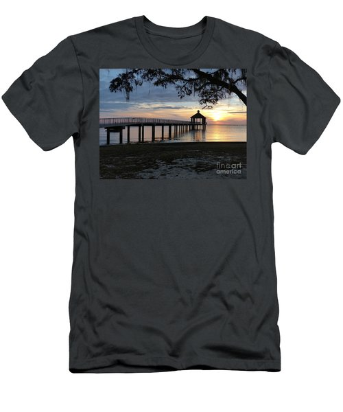 Men's T-Shirt (Athletic Fit) featuring the photograph Walking Bridge To The Gazebo by Rosanne Licciardi