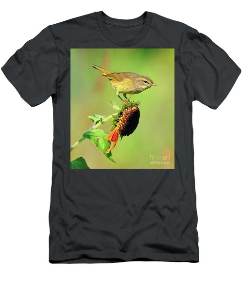 Men's T-Shirt (Athletic Fit) featuring the photograph Warbler by Debbie Stahre